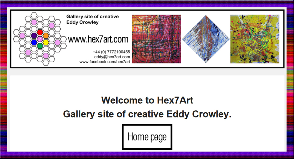 Hex7Art.com , Eddy Crowley, gallery, edward crowley, gallery, irish art, ulster art, abstract art